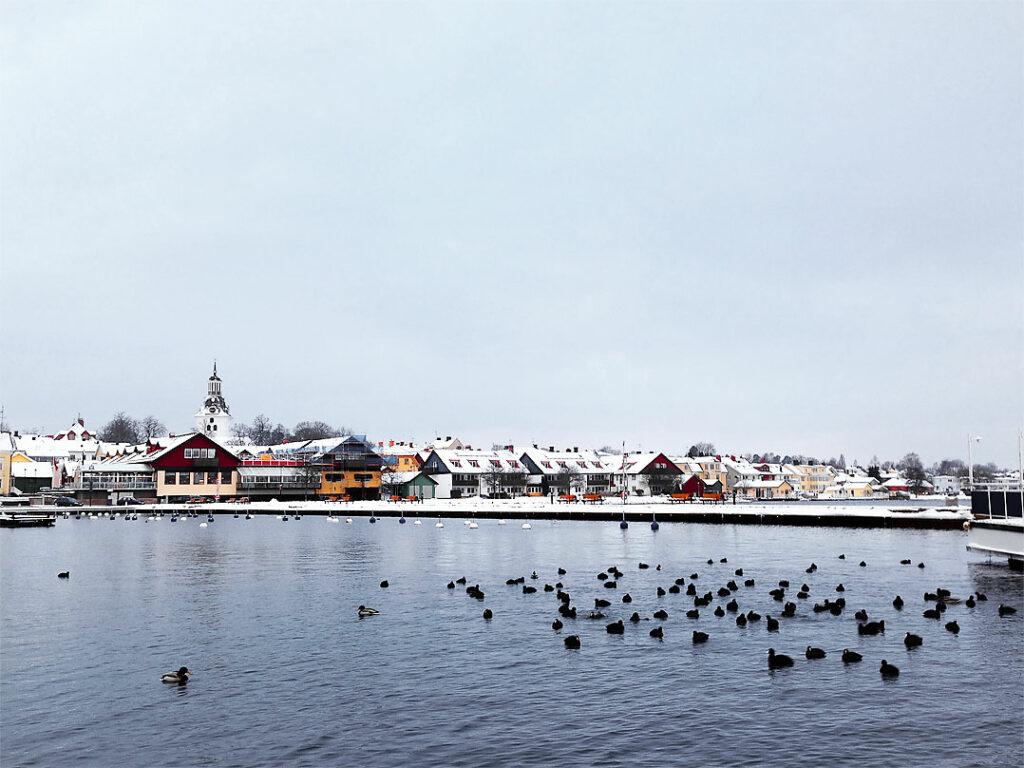 Fiskarehamnen i Västervik 2015-02-04