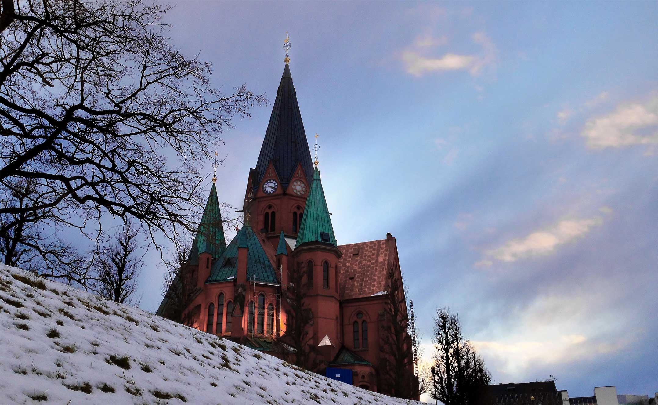 Sankt Petri kyrka Västervik - Kväll 2015-02-07