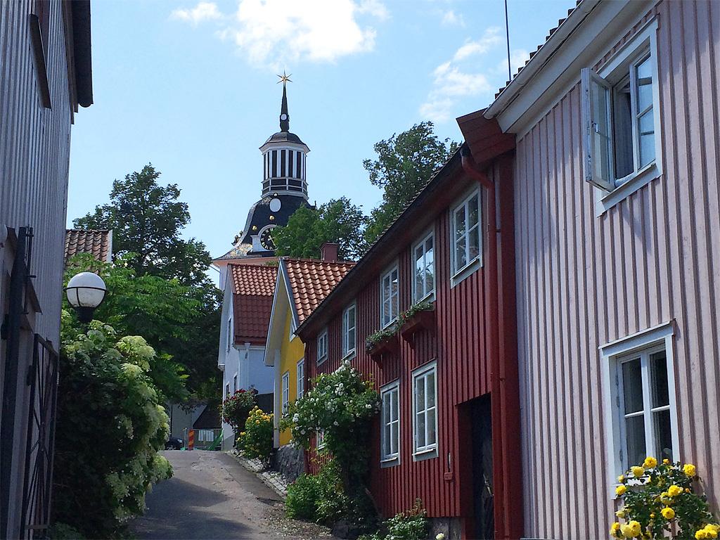 Sankta Gertruds kyrka - Västervik - Vy från Skolgatan