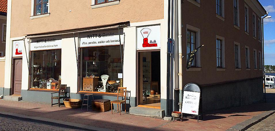 Nya butikslokalen på Strömsgatan 5 i Västervik - Anders Nytt och Antikt
